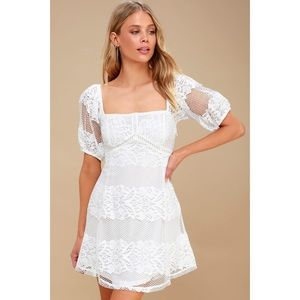 NWT Free People Be Your Baby White Lace Dress S